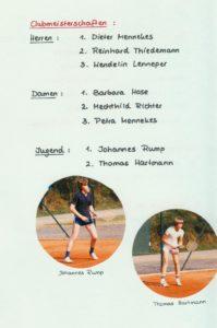 Clubmeisterschaften 1980