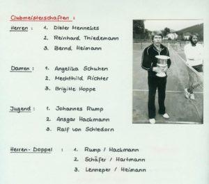 Clubmeisterschaften 1981