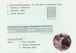 Clubmeisterschaften 1982