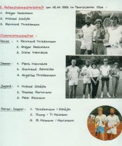 Clubmeisterschaften 1983