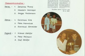 Clubmeisterschaften 1984